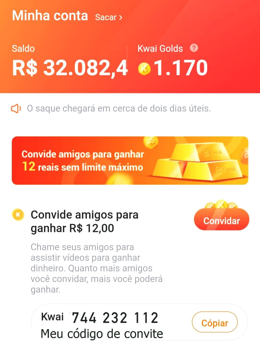 KWAI – COMO GANHAR ATÉ R$60,00 REAIS POR INDIÇÃO